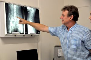 Townsville Chiropractor discussing X-Rays